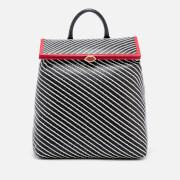 Lulu Guinness Women's Diagonal Stripes Jasmina Backpack - Black/Chalk