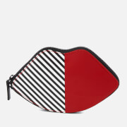 Lulu Guinness Women's 50:50 Stripe Lip Foldaway Shopper Bag - Red/Black/White