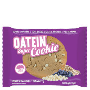 Oatein Super Cookie - White Chocolate and Blueberry, 75g