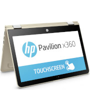 "HP 11-U005NA 11.6"""" Touch-Screen Laptop (Intel Pentium N3710, 4GB, 500GB, 1.6GHz, Windows 10) - Gold - Manufacturer Refurbished"