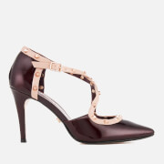 Dune Women's Cayleigh Patent Leather Court Shoes - Burgundy