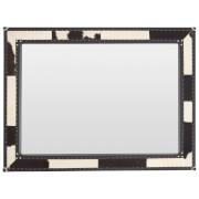 Kensington Townhouse Wall Mirror - Black/White Cowhide