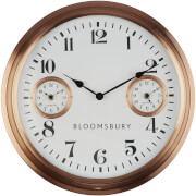 Fifty Five South Bloomsbury Wall Clock - Copper Finish