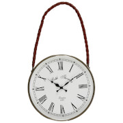 Fifty Five South Churchill Hanging Wall Clock - White