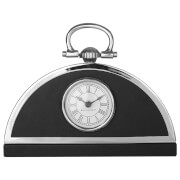 Fifty Five South Kensington Leather Effect Townhouse Mantle Clock - Black