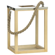 Fifty Five South Vermont Rope Lantern - Natural/Wood