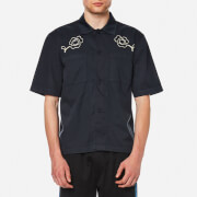 Our Legacy Men's Short Sleeve Satin Shirt - Navy Washed Satin