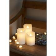 Sirius Sara LED Wax Candle Set with Timer - White