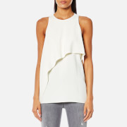 Helmut Lang Women's Side Drape Tank Satin Top - White