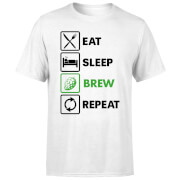 Eat Sleep Brew Repeat Men's T-Shirt