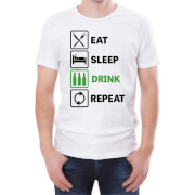 Eat Sleep Drink Repeat Men's T-Shirt