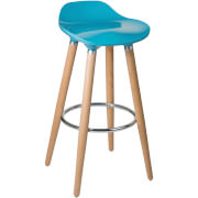 Geo Bar Stool - Beech Wood/Teal