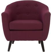 Stockholm Arm Chair - Purple/Natural