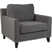 Fifty Five South Regents Park Chair - Grey Linen