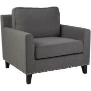 Fifty Five South Regents Park Chair - Grey Linen