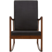 Fifty Five South Relax Rocking Chair - Oak/Brown Leather Effect
