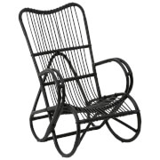 Fifty Five South Woodstock Rattan Chair - Black