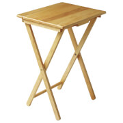 Fifty Five South Snack Tropical Hevea Wood Table - Natural
