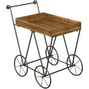 Fifty Five South Foundry Serving Trolley - Fir Wood/Metal