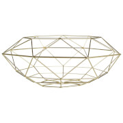 Vertex Abstract Fruit Basket - Gold Finish