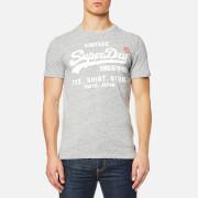 Superdry Men's Shirt Shop T-Shirt - Pebble Grey Grit