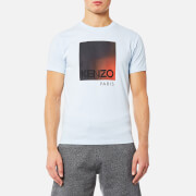 KENZO Men's Classic Degrade Logo T-Shirt - Light Blue