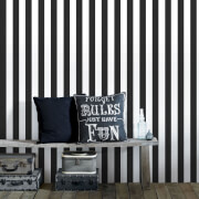 Superfresco Helen Glitter Stripe Wallpaper - Black/White