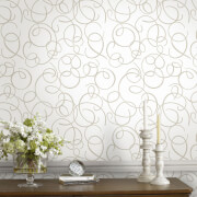 Superfresco Dance Glitter Geometric Wallpaper - Gold