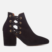 Hudson London Women's Kris Suede Heeled Ankle Boots - Black