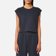 T by Alexander Wang Women's Tie Back Muscle Sweatshirt - Navy