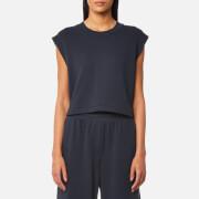 T by Alexander Wang Women's Tie Back Muscle Sweatshirt - Navy