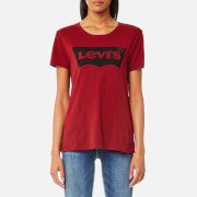 Levi's Women's The Perfect T-Shirt - Better Batwing Red Dahlia