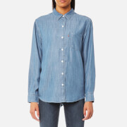 Levi's Women's Sidney One Pocket Boyfriend Shirt - Medium Light Wash