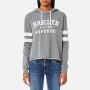 Superdry Women's Riverside Crop Hooded Jumper - 90's Grey Marl