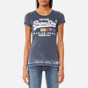 Superdry Women's Premium Goods Burnout T-Shirt - Princeton Blue Marl