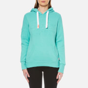 Superdry Women's Vintage Logo Embossed Hooded Jumper - Tropical Teal Grit