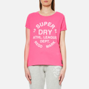 Superdry Women's Athletic Leisure T-Shirt - 90's Raspberry Pink