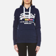 Superdry Women's Premium Goods Hooded Jumper - French Navy Rugged