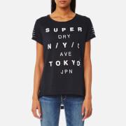 Superdry Women's NYC Burnout Stripe Boyfriend T-Shirt - Eclipse Navy