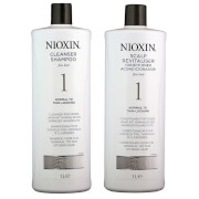 NIOXIN SYSTEM #1 1 L Shampoo and Conditioner Duo Pack