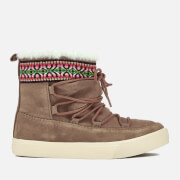 TOMS Women's Alpine Waterproof Suede Sheepskin Boots - Toffee