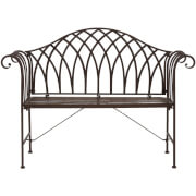 Finchwood Jardin Antique Bench - Wrought Iron Antique Brown
