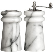 Premier Housewares Salt Shaker and Pepper Mill Set - Marble (10 x 6cm)