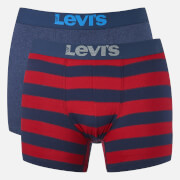 Levi's Men's 200SF 2-Pack Rugby Stripe Boxers - Red/Navy