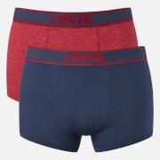 Pack de 2 bóxers Levi's 200 SF - Hombre - Azul marino/rojo