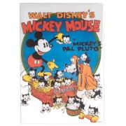 Disney Mickey's Pal Pluto Printed Canvas Wall Art