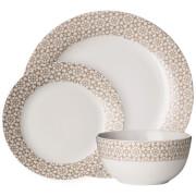 Premier Housewares 12 Piece Avie Casablanca Dinner Set - Natural Porcelain