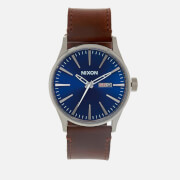 Nixon Men's The Sentry Leather Watch - Blue/Brown