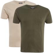 Lote de 2 camisetas Brave Soul Arkham - Hombre - Beige/caqui