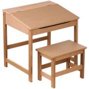 Premier Housewares Children's Desk and Stool - Natural